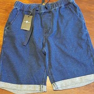 7 for all mankind SZ L boys denim shorts NWT
